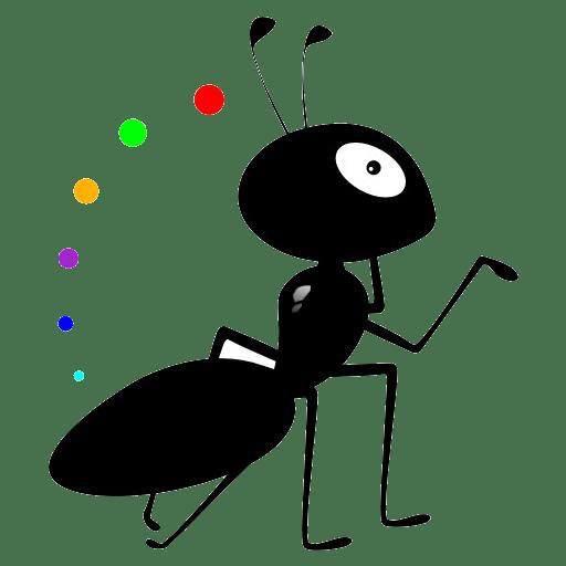 可爱的动画蚂蚁图