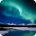 Aurora Borealis In Land Ice