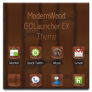 GO Launcher EX | ModernWood