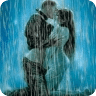 boy n girl kissing under rain