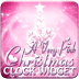 PINK Christmas Clock Widget