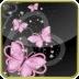 pink butterflies glitter lwp