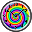Psychedelic Analog Clock