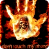 Not touch phone fire skull
