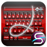 SlideIT Keyboard Red Ruby Skin
