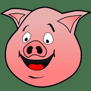 猪的吉禅剪纸图案