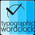 Typographic Word Clock