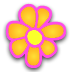 Flowers Digital Clock Widget