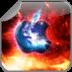 酷苹果标志背景