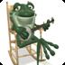 Frog cute musician Live Wallpa