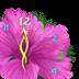 芳香花朵时钟