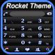 RocketDial Neon Black Theme
