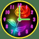 霓虹 花朵 时钟