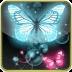 blue & pink butterfly glit...
