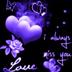 Purple Hearts Love Butterfly L