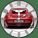 Red Car 6 Cool Widget Clock!!
