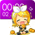 Chibi Rin Clock Widget