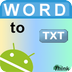 Convert Word To TXT