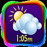 彩虹时钟和天气小工具