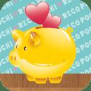 简单尽速收支簿【POCHI♥RECO】可爱快乐的节省&存钱♪