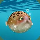 吹成气球的鱼动态壁纸