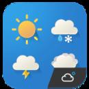 Cartoon cute weather Icon set