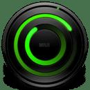 螺旋绿色模拟时钟
