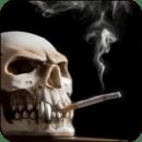 吸烟骷髅动态壁纸