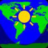世界日光地图