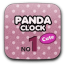 Panda Clock No1 Cute