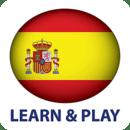 游玩和学习。西班牙语 free