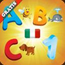 意大利语字母表为孩子们 学习意大利语言