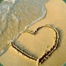 Heart Drawn In Beach Live Wall