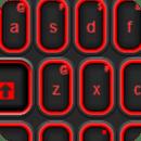 红色的橡胶键盘