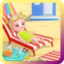 Cute Baby At Beach