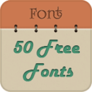 50 Fonts for Samsung Galaxy 6