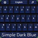 简单的键盘深蓝色