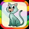 儿童画画游戏:小猫涂色