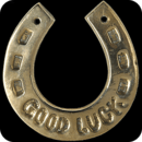 3D Lucky Horseshoe Wallpaper