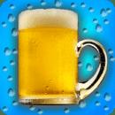 波光粼粼的冷啤酒