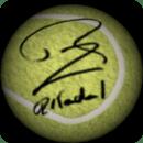 Nadal 3D Tennis Ball Wallpaper