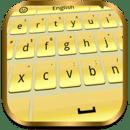 Gold Iphone Keyboard Theme