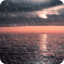 Sunset Sea Rain Live Wallpaper