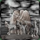 Wolves Fairy Live Wallpaper