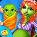 万圣节新生儿妈妈和婴儿