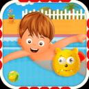 儿童游泳池男孩
