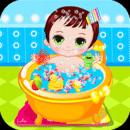 可愛寶貝洗澡