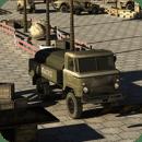 单机军用卡车停车