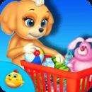可爱的小狗超市