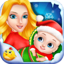 小圣诞老人宝贝为孩子